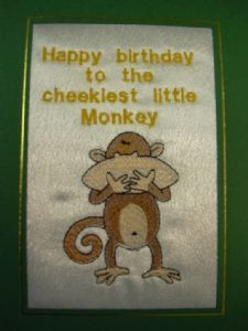 HAPPY BIRTHDAY - Cheeky Little Monkey - Cards